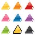 Shiny Triangle Stickers Royalty Free Stock Photo