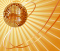 Shiny vector disco ball Stock Images