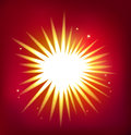 Shiny vector star isolated on red background single created in adobe illustrator image contains blends transparencies and Stock Photos