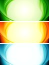 Shiny wavy vector banners Royalty Free Stock Photo