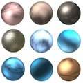 Shiny Web Buttons And Balls Royalty Free Stock Photo
