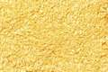Shiny yellow leaf gold foil texture for background Royalty Free Stock Photo