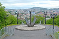 Ship anchor, part of a memorial In memory of the seamen who were lost in a peace time. Murmansk Royalty Free Stock Photo