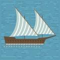 Ship boat sea frigate symbol vessel travel industry vector sailboats cruise of marine icon