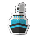 Ship boat transport isolated icon
