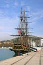 Ship bounty malaga spain november the hms docked at malaga spain november the famous was built for the movie mutiny on the Stock Photo