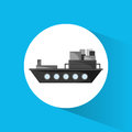 Ship cargo container transport