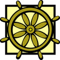 Ship control wheel vector illustration Royalty Free Stock Photography