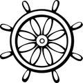 Ship control wheel vector illustration Royalty Free Stock Photo