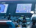Ship Controls and Data Screen Royalty Free Stock Photo