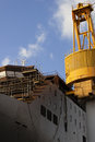 Ship and crane in the shipyard Stock Photography