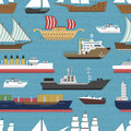 Ship cruiser boat sea vessel travel industry vector sailboats cruise marine seamless pattern backgrpund