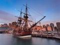 Ship Darl Harbour Endeavour Set Royalty Free Stock Photo