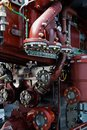 stock image of  Ship diesel engine and piston