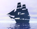 Ship digital visualization of a Royalty Free Stock Photos