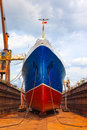 Ship dry dock overhaul Stock Photography