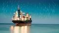 Loď nákladní loď nebe