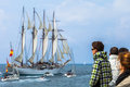 Ship Juan Sebastian de Elcano Royalty Free Stock Photography