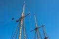Ship mast old sailing and rope Stock Image