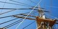 Ship mast and ropes Stock Image
