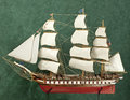 Ship model uss constitution original is the oldest us navy vessel alfoat Royalty Free Stock Image
