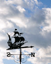 Ship Outline Weather Vane Royalty Free Stock Photo