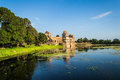 Ship palace at mandu india jahaz mehal situated between two artificial lakes this two storied architectural marvel is so named as Stock Photos