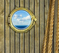 Ship porthole Stock Image