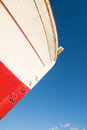 Ship prow detail take of a with a depth gauge in roman numbers Stock Photography