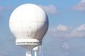 Ship radar dome Royalty Free Stock Photo
