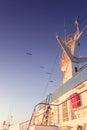 Ship radar tower Royalty Free Stock Photo