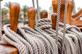 Ship rigging Royalty Free Stock Photo