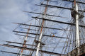 Ship Rigging and Masts Royalty Free Stock Photo