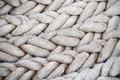 Ship rope heavy from old sailing coiled Royalty Free Stock Photography