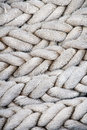 Ship rope heavy from old sailing coiled Stock Photos