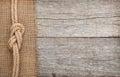 Enviar cuerda en madera y despido textura