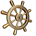 Ship's steering wheel Royalty Free Stock Photo