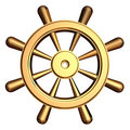 Ship's steering wheel Royalty Free Stock Image