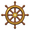 Ship's Wheel Royalty Free Stock Photos