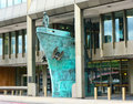 Ship sculpture international maritime organisatio impressive of a ships bow outside the london offices of the organisation the Royalty Free Stock Image