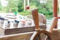 Ship steering. wheel Royalty Free Stock Photo