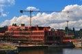 Ship under construction Stock Image