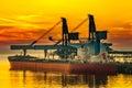 Ship under loading Royalty Free Stock Photo