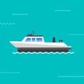 Ship vector illustration.