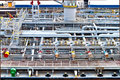 Ship vessel deck Royalty Free Stock Images
