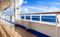 Ship view the looking out to sea from a s deck Stock Photo