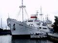Ship vityaz in kaliningrad military Royalty Free Stock Photography