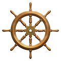 Ship wheel Royalty Free Stock Images