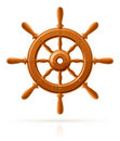 Ship wheel marine wooden vintage Stock Photography