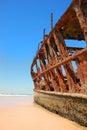 Ship Wreck on a Beach Royalty Free Stock Photo